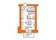 Жилой комплекс ДОМА НА ЛУГОВОЙ ж/к, 1 дом: Планировка однокомнатной квартиры 27,75 кв.м