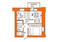 Жилой комплекс ДОМА НА ЛУГОВОЙ ж/к, 1 дом: Планировка двухкомнатной квартиры 37,14 кв.м