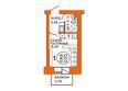 Жилой комплекс ДОМА НА ЛУГОВОЙ ж/к, 1 дом: Планировка однокомнатной квартиры 19,57 кв.м