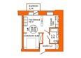 Жилой комплекс ДОМА НА ЛУГОВОЙ ж/к, 1 дом: Планировка двухкомнатной квартиры 36,94 кв.м