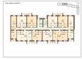 Жилой комплекс РОДНЫЕ ПЕНАТЫ ж/к: Блок-секция 2. Планировка типового этажа