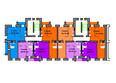 Жилой комплекс СЕРЕБРЯНЫЙ БЕРЕГ ж/к, 12 дом: Подъезд 9-10. Планировка типового этажа