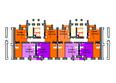 Жилой комплекс СЕРЕБРЯНЫЙ БЕРЕГ ж/к, 12 дом: Подъезд 5-6. Планировка типового этажа